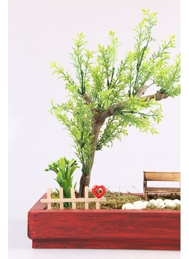Kibrithane Çiçek Yapay Ağaç Sevgililer Gününe Özel Bonsai Aranjman Kc00300022 Renkli